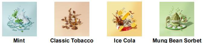 Mint Classic Tobacco Ice Cola Mung Bean Sorbet