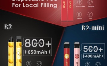 ALD B2 series disposable vape for local filling