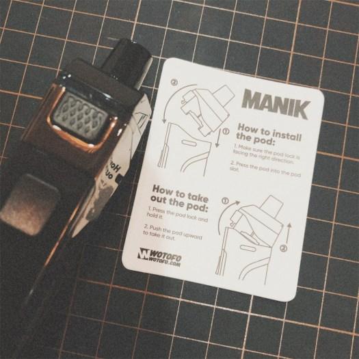 WOTOFO Manik mod pod review