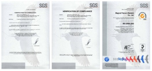 magical flavour certificates