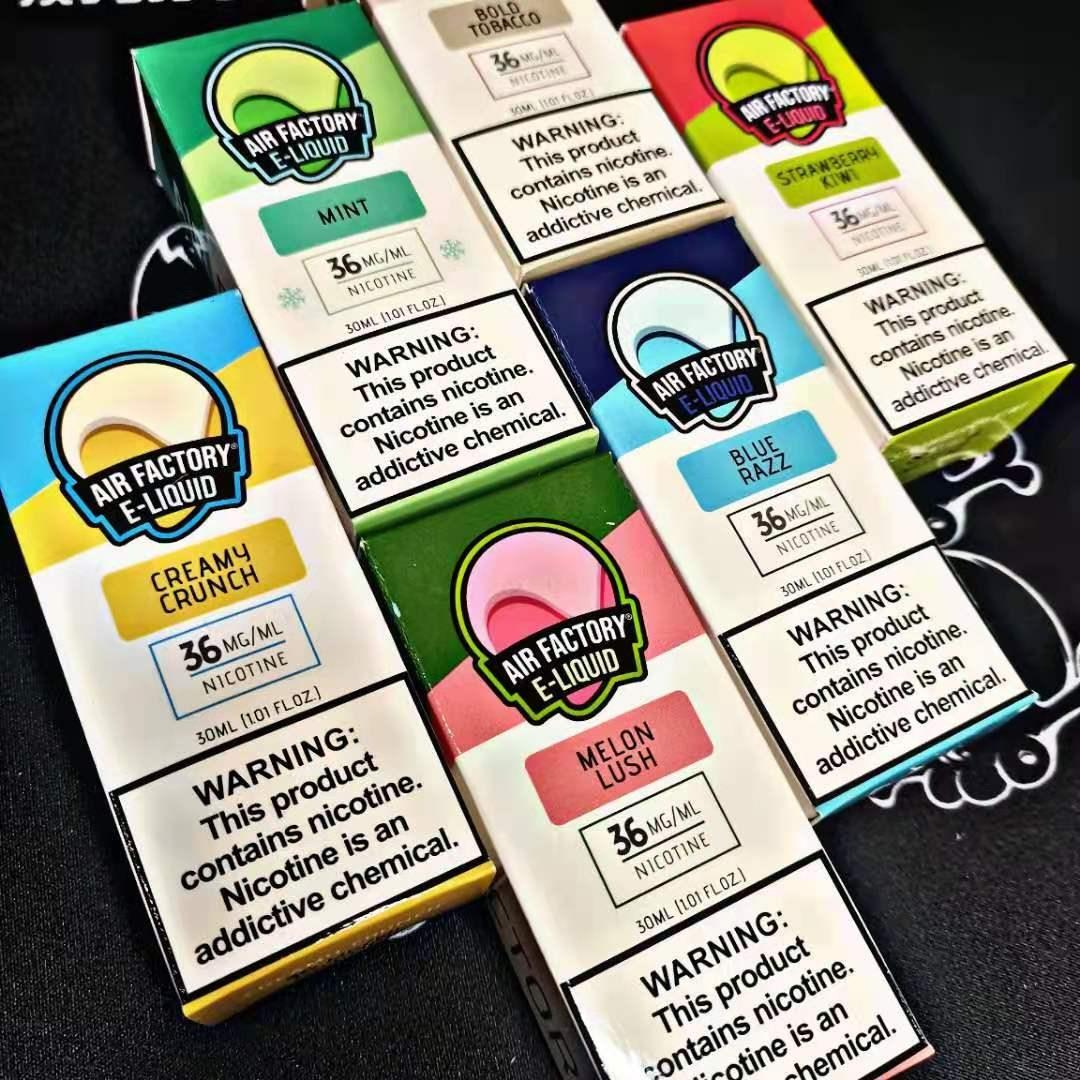 AIR FACTORY nicotine salt e-liquid review