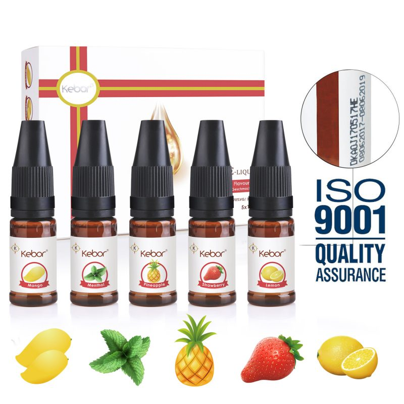Kebor Eliquid Pack Fruit Combo 5x10ml – £9.99 at Kebor Direct on Amazon
