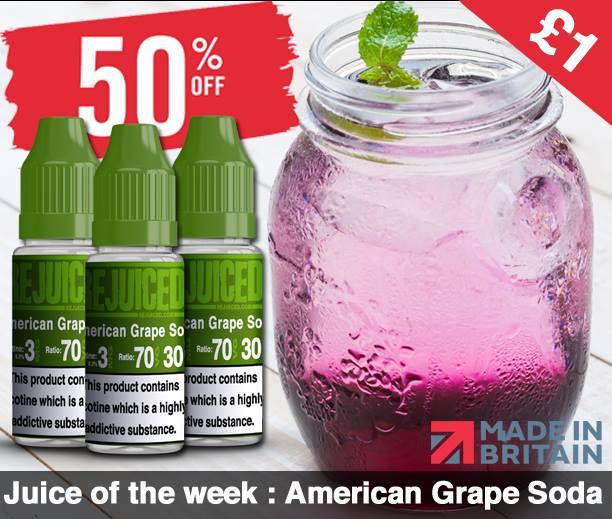 Rejuiced American Grape Soda E-Liquid (10ml) – £0.93