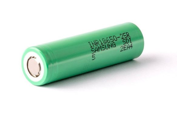 Samsung 25R (2500MAH/20A) 18650 battery – £3.00 at Fogstar