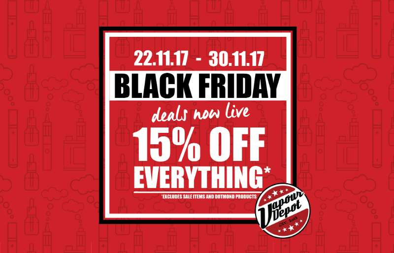15% off EVERYTHING at Vapour Depot