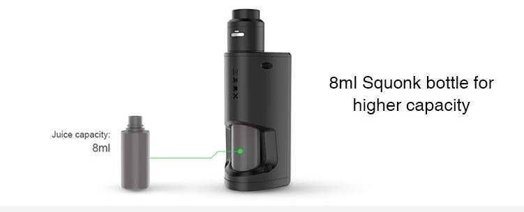 GeekVape GBOX 8ml Squonk bottle for higher capacity