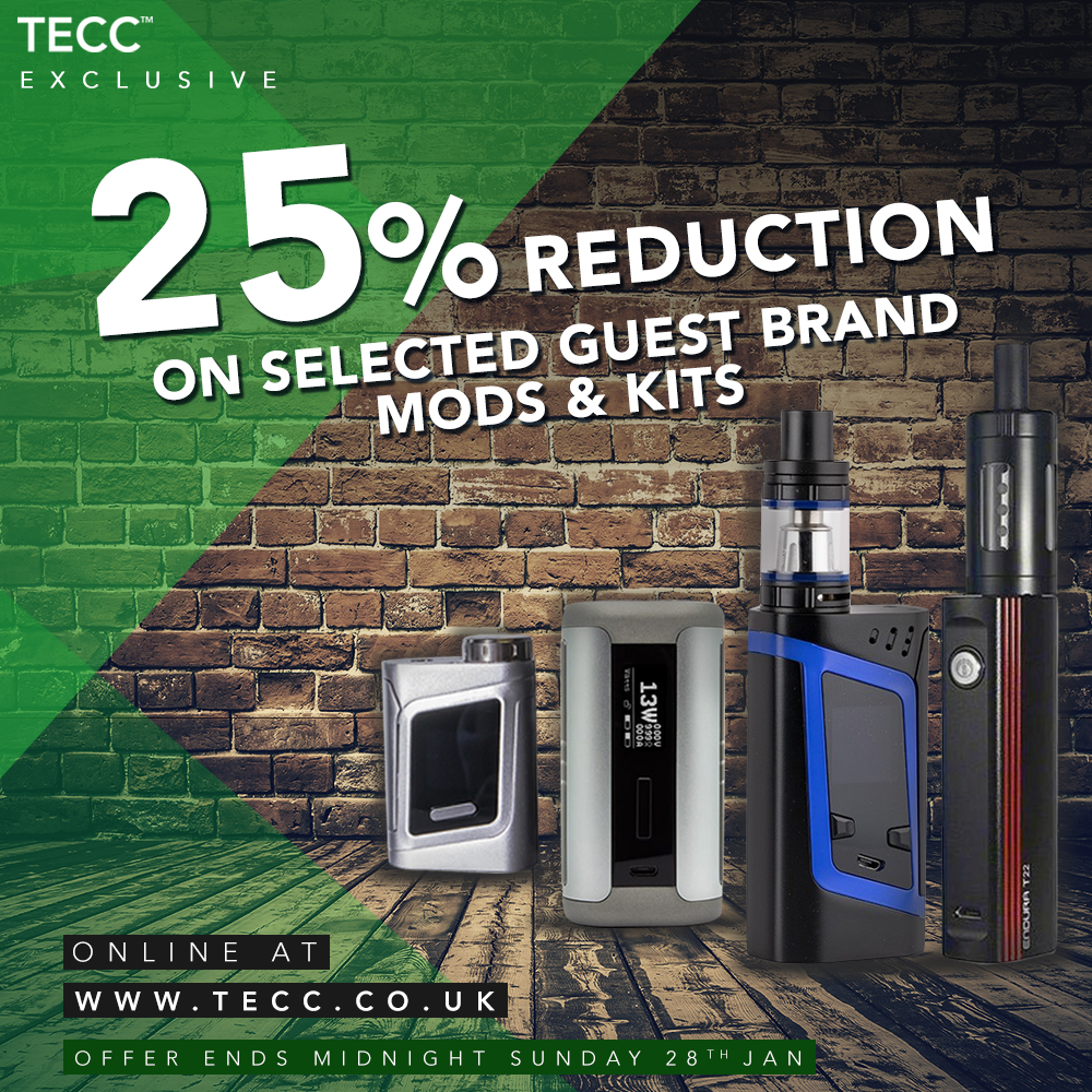 25% Off Selected Mods/Kits – From £22.49 At TECC!