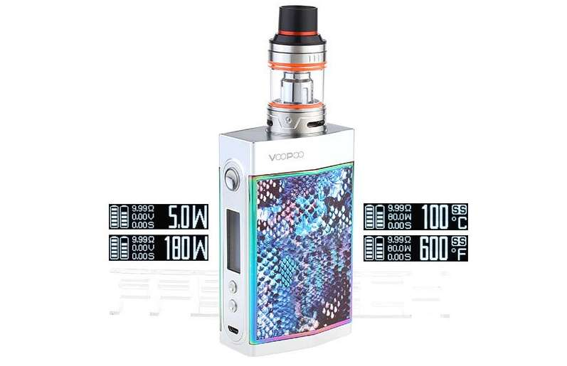 VooPoo Too 180w TC Mod Kit with UFORCE Tank – £43.99 delivered