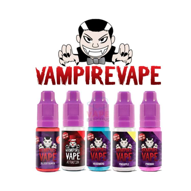 5x 10ml Vampire Vape (All 40 Flavours Pick n Mix) 50ml – £8.99