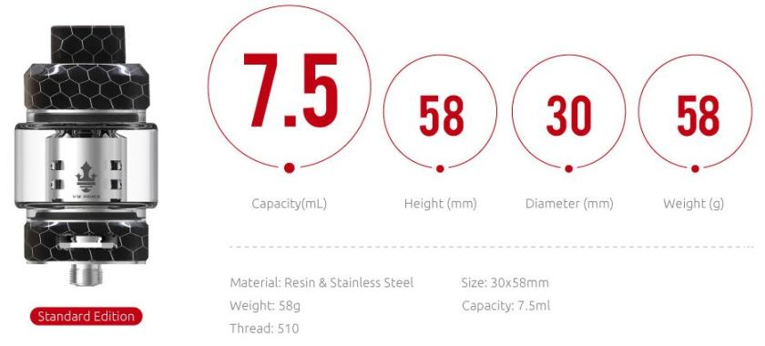 SMOK Resa Price Tank Specifications