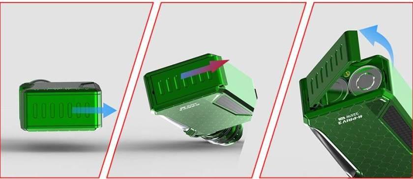 Smoktech H-Priv 2 225w Box Mod Detachable Battery Compartment for 18650 batteries