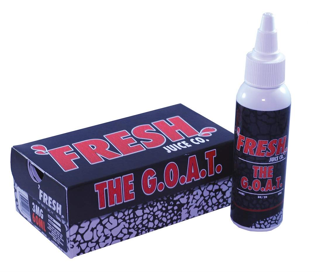 Fresh Juice Co E-liquid – The G.O.A.T – 60ml – £4.25 at Greyhaze