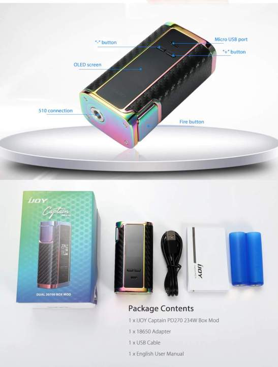 iJoy Captain PD270 Mod UK package contents