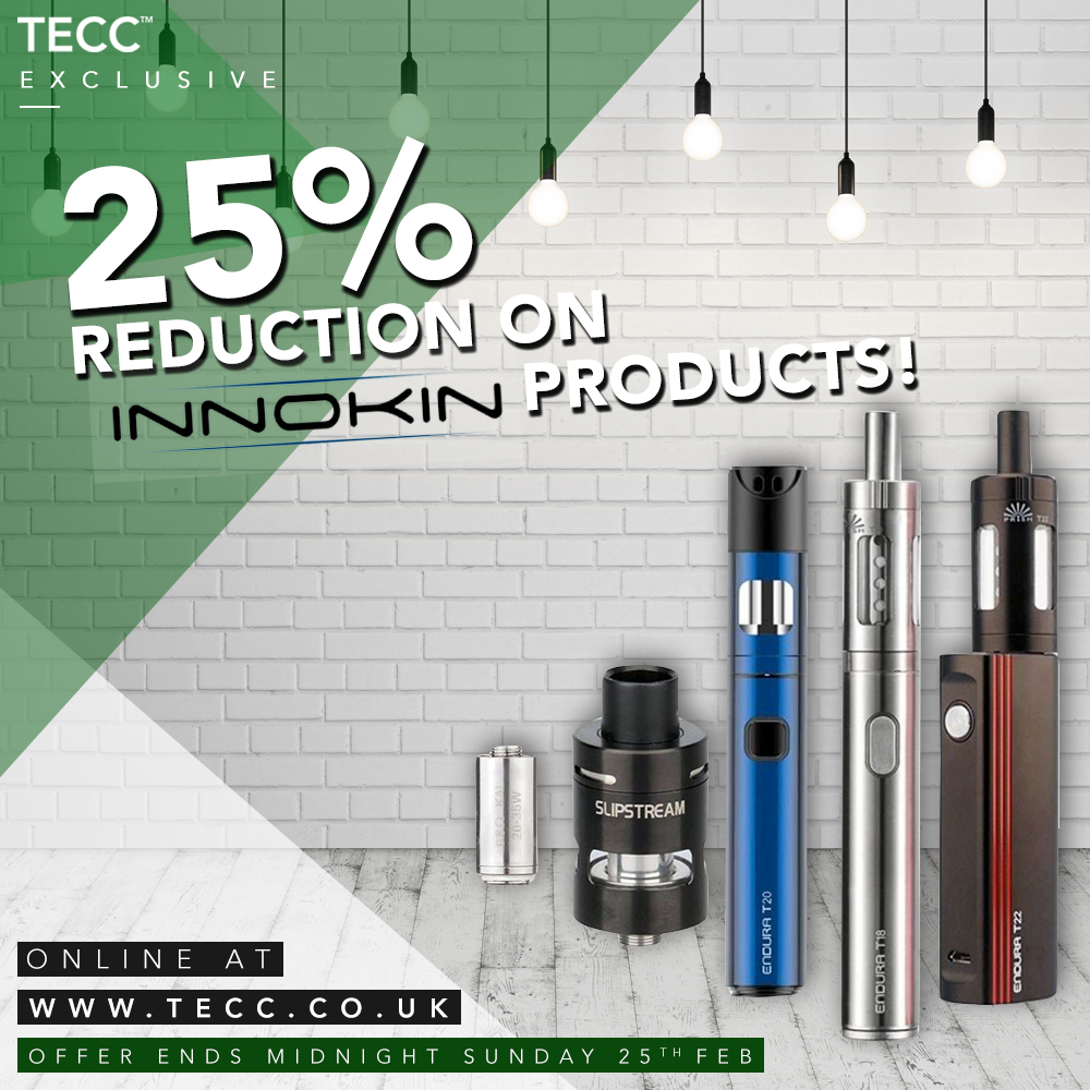 25% Innokin Reductions! – From £3.74 At TECC!