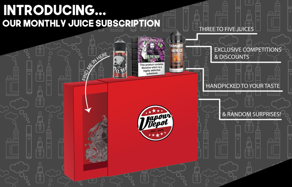 Subscription Box Vapour Depot Juice
