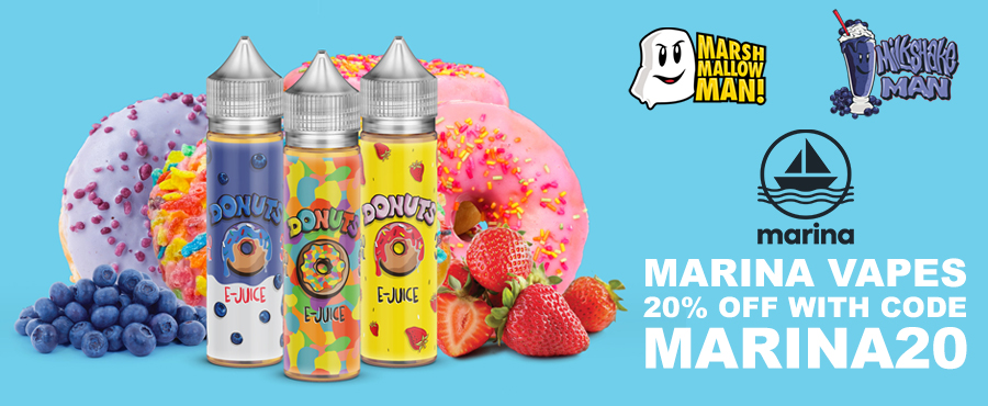 20% off Marina Vapes E-Liquids at Gourmet eLiquid