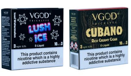 Vgod Cubano & Lush Ice 3x10ml – £7.00