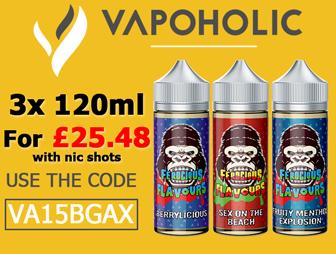 Vapohilic Shortfill ejuice 360ml e-liquid deal