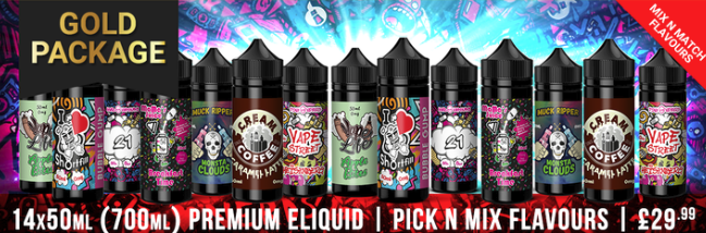 E-Liquid Bundle 840ml – £29.99