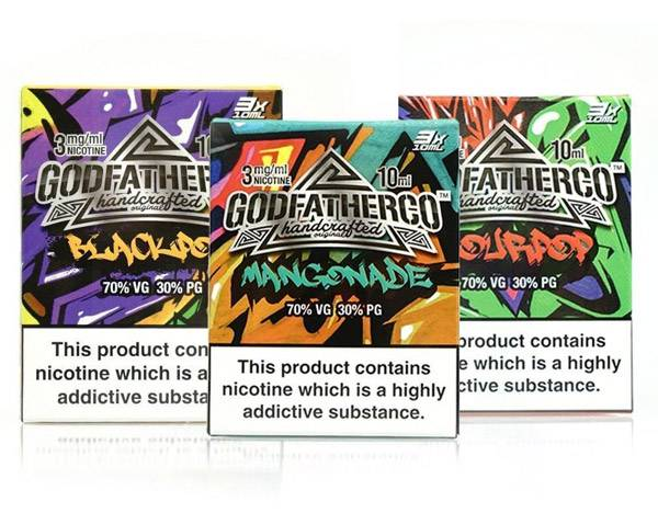 90ml Bundle – 3x 30ml Godfather Co E-Liquid – £5.00