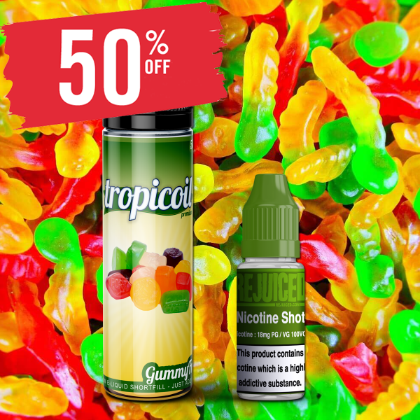 60ml Gummy Fruits – £5.00 at REJUICED