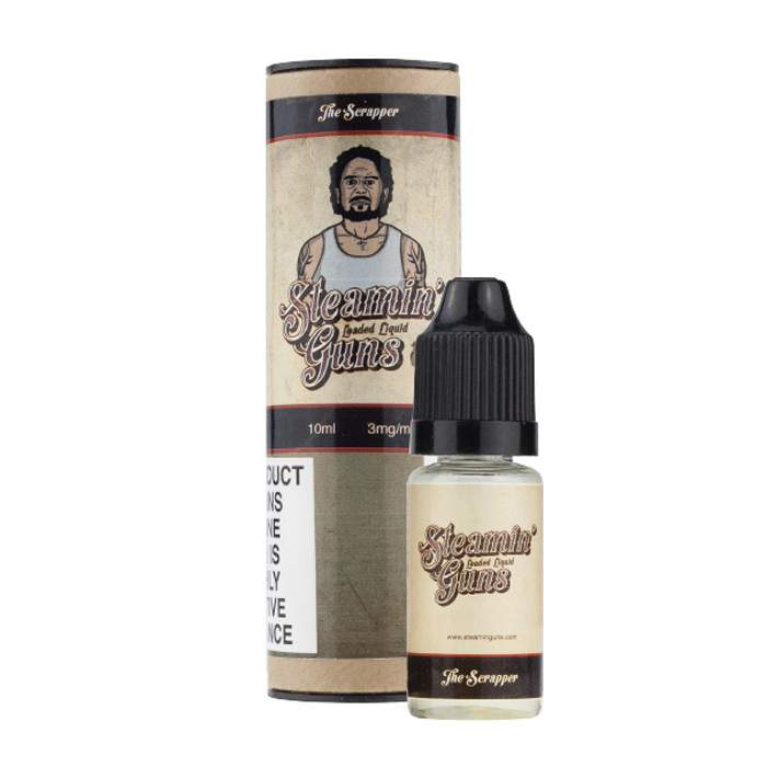 10ml SteaminGuns E-Liquid – The Scrapper (3mg) – £0.79
