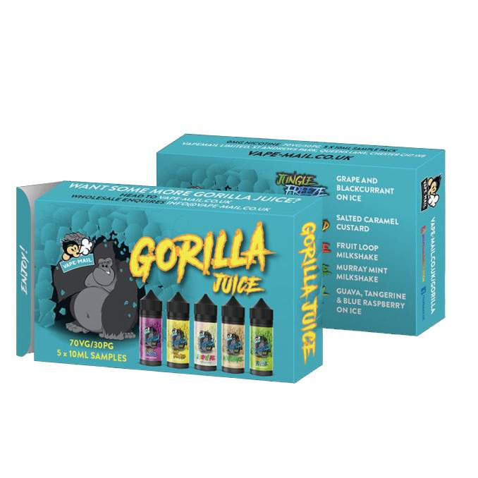5x 10ml Sample Pack of Gorilla Juice by VapeMail – £3.99