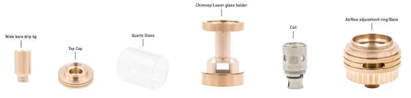 UWELL Crown Sub-Ohm Tank Components