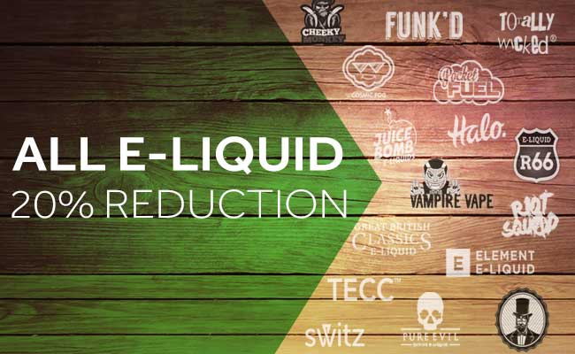 20% Reduction On All E-Liquid – From £2.24 at TECC