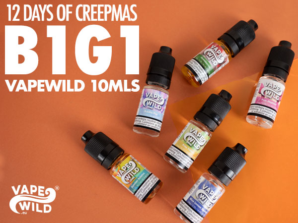 VapeWild 10mls Buy 1 Get 1 Free – £1.39