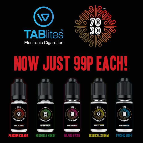 TABlites 10ml E-Liquids – £0.99 at TABlites