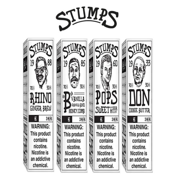 Stumps 50ml E-Liquid Shortfills by Charlies Chalk Dust – £8.99