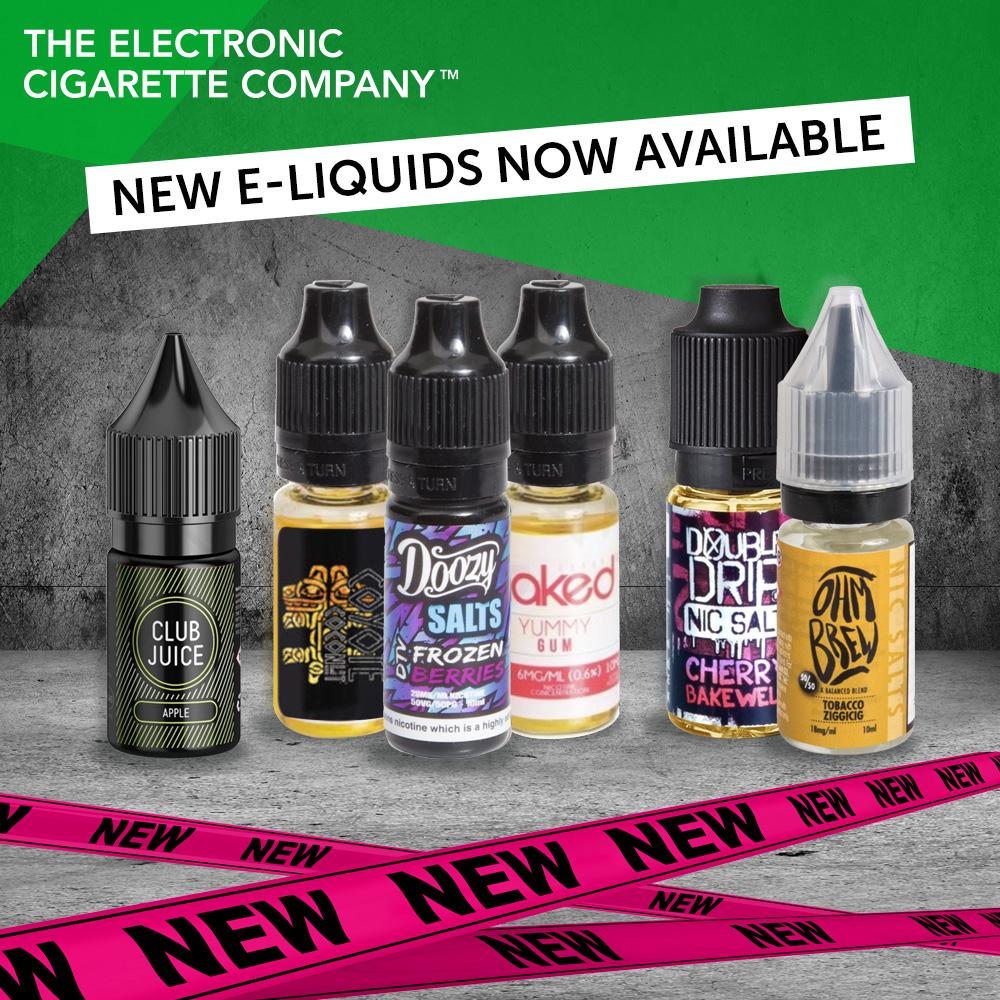 6 New E-liquid Ranges 25% Reduction At TECC