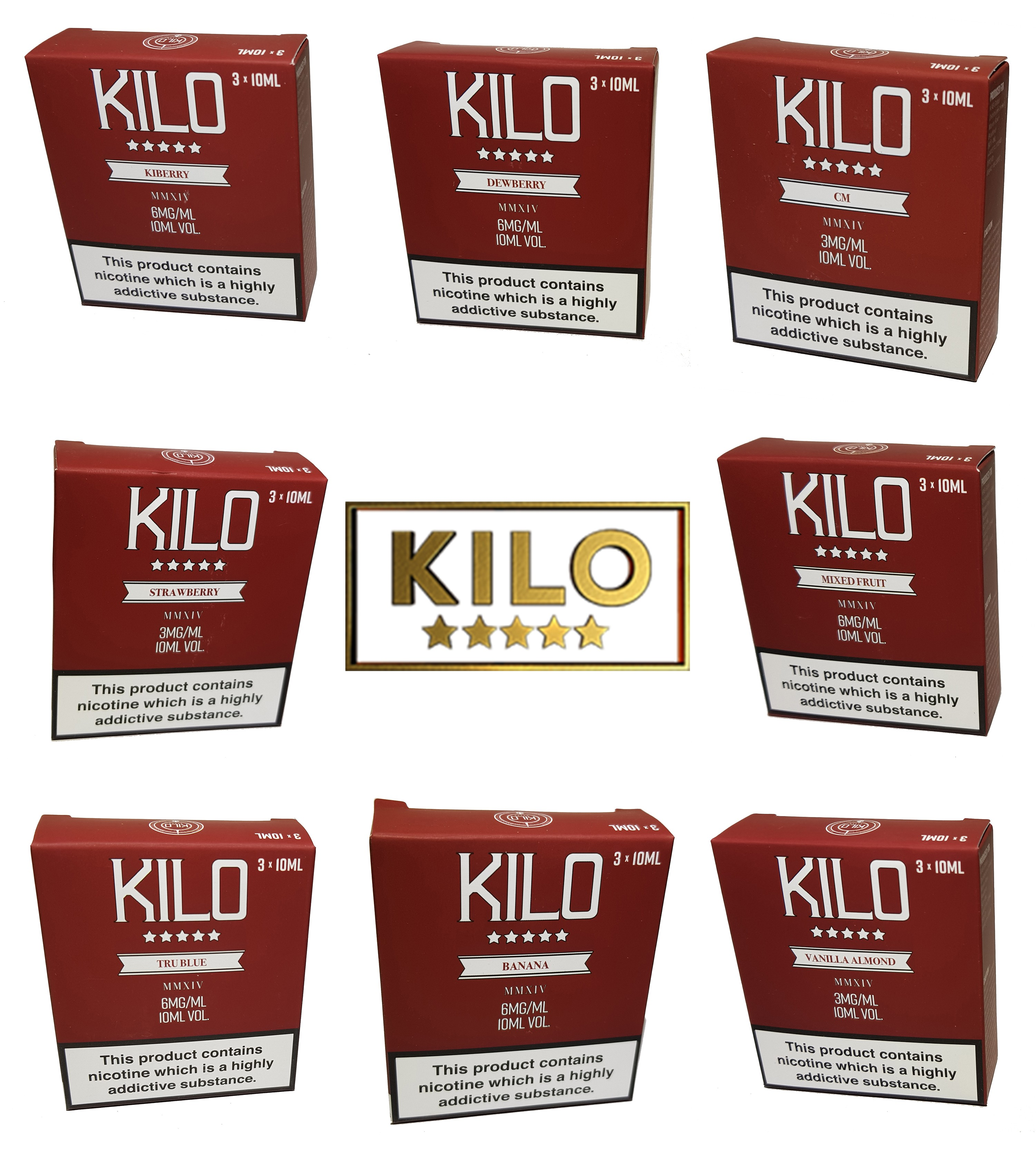 Kilo E-Liquid Multi Pack – £3.00