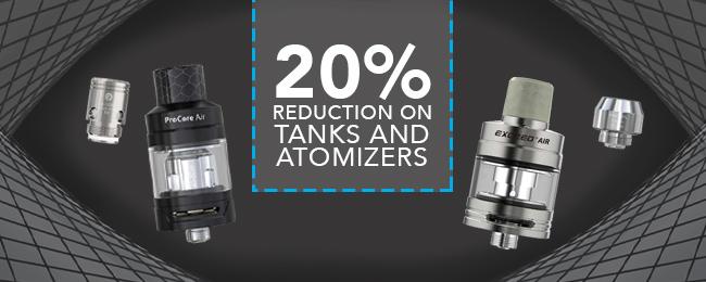 20% Reduction On Tanks n Atomizers At Joyetech UK