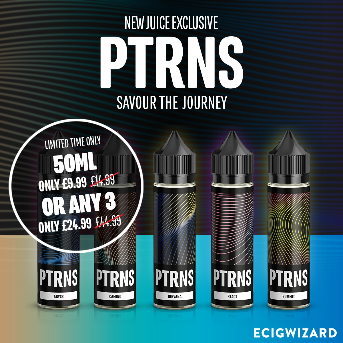 PTRNS E-Liquid 150ml – £24.99