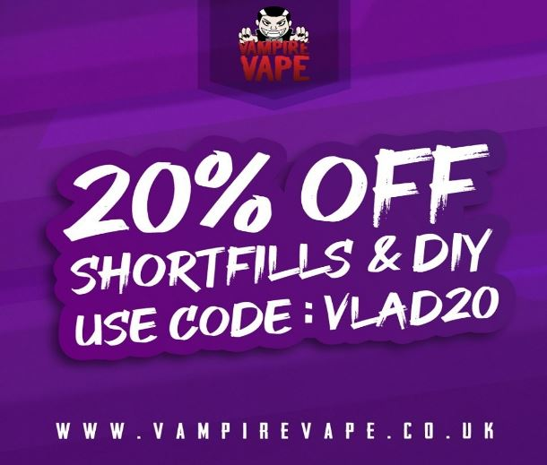 20% Vampire Vape Coupon Code