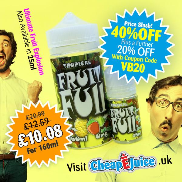 FruitFull 160ml Shortfill – £10.08