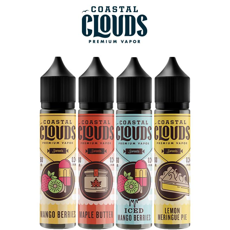 Coastal Clouds Sweets 50ml E-Liquid Shortfills – £8.99