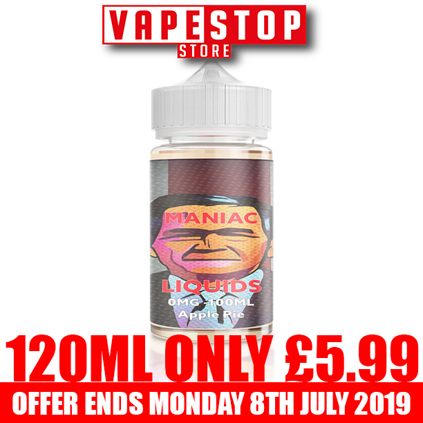 Maniac 120ml Shortfill – £5.99