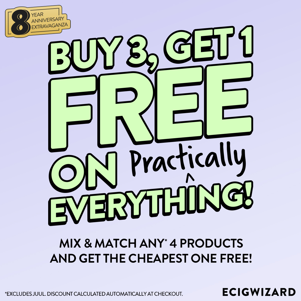 Ecigwizard 4x Products Get One Free