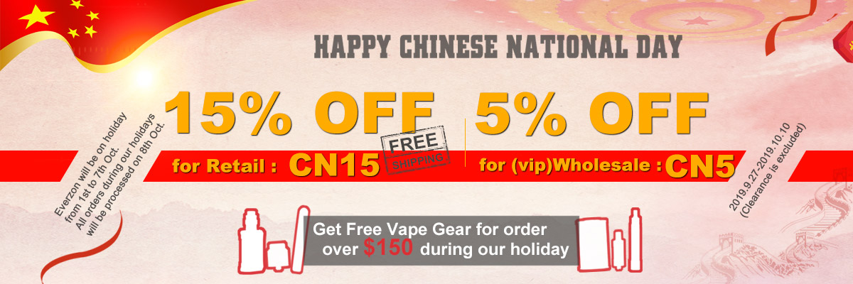15% OFF Everzon Chinese National Day Sale Inc Free Postage