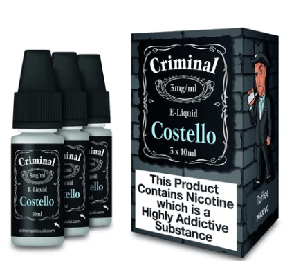 Criminal E-Liquid Costello 30ml – £3.00