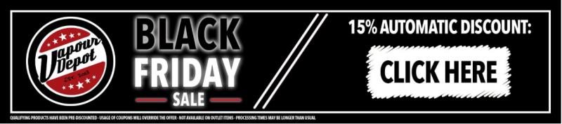 15% Off At Vapour Depot Black Friday Vape Deals