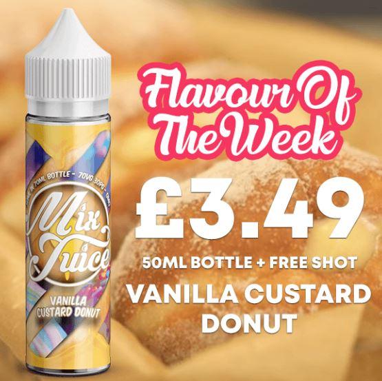 Vanilla Custard Donut 50ml short fill – £3.49