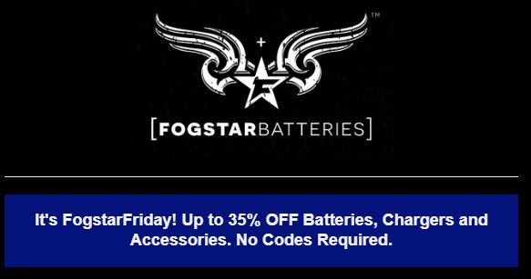 FOGSTAR Friday 35% Off Batteries