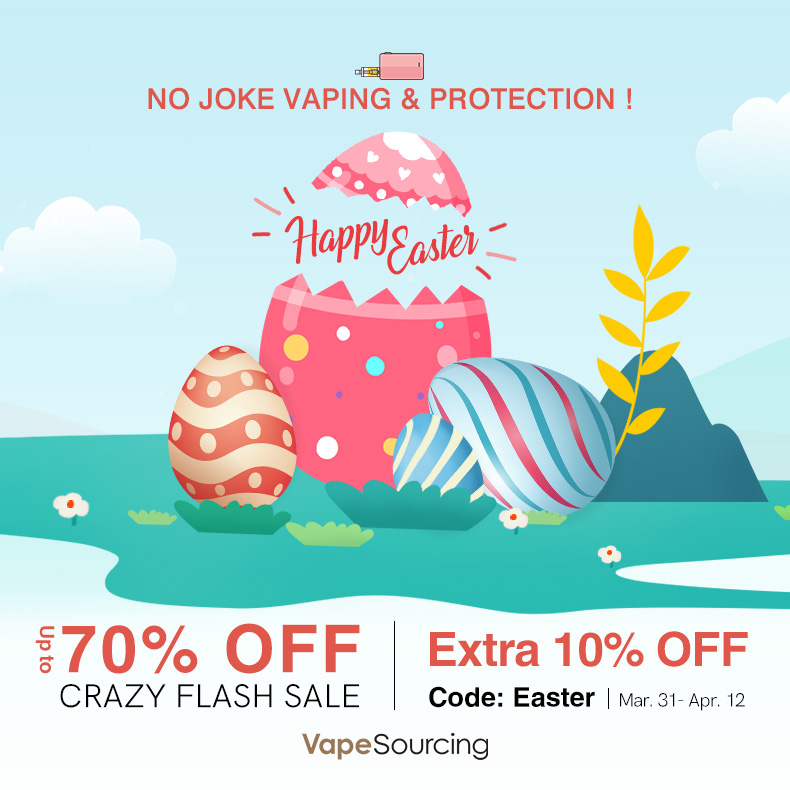 Extra 10% off for Vapeourcing Easter Vape Sale