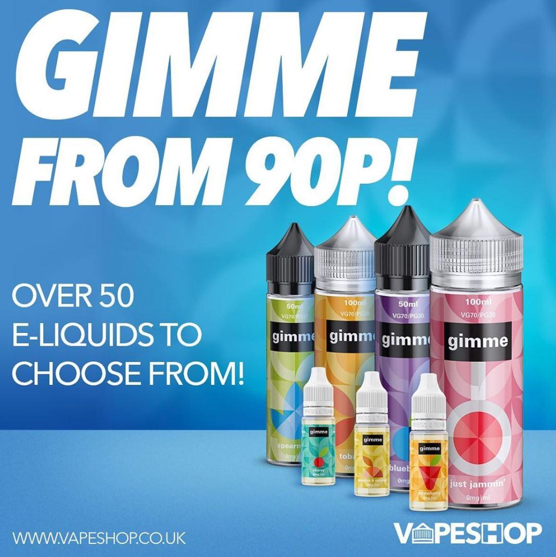Gimme 10ml E-liquid – £0.90