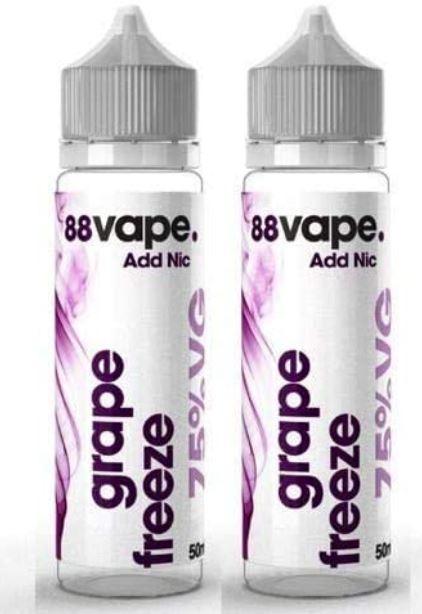 88Vape Grape E-Liquid 2x 50ml Shortfill – £9.49