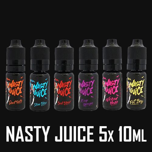 Nasty Juice 5x 10ml Shortfill – £12.00